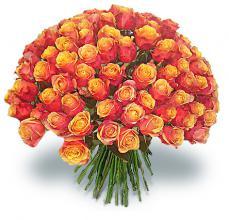 Пример букета из роз